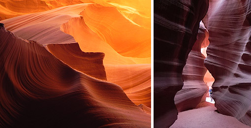 Lower und Upper Antelope Canyon