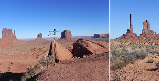 Monument Valley und Navajo-Indianer